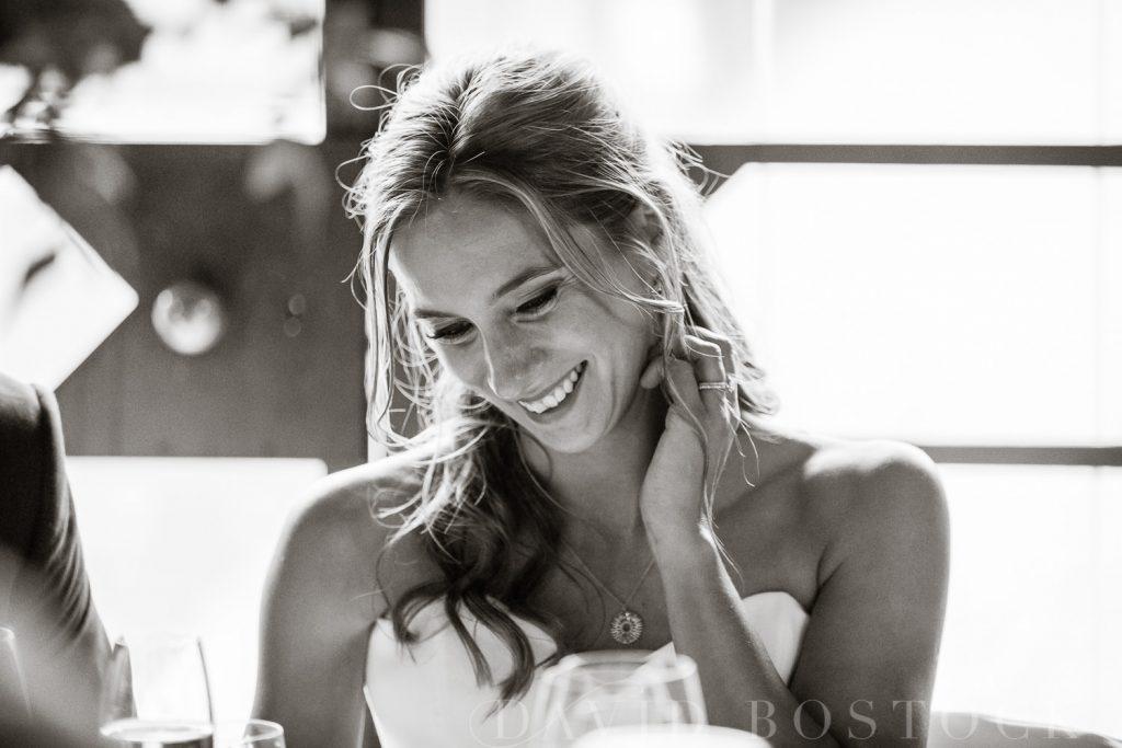 The Dairy Waddesdon wedding speeches happy bride