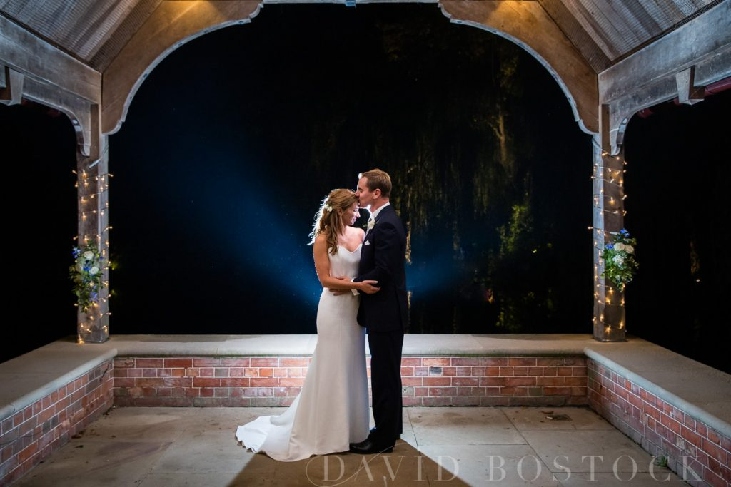 The Dairy Waddesdon wedding bride and groom evening