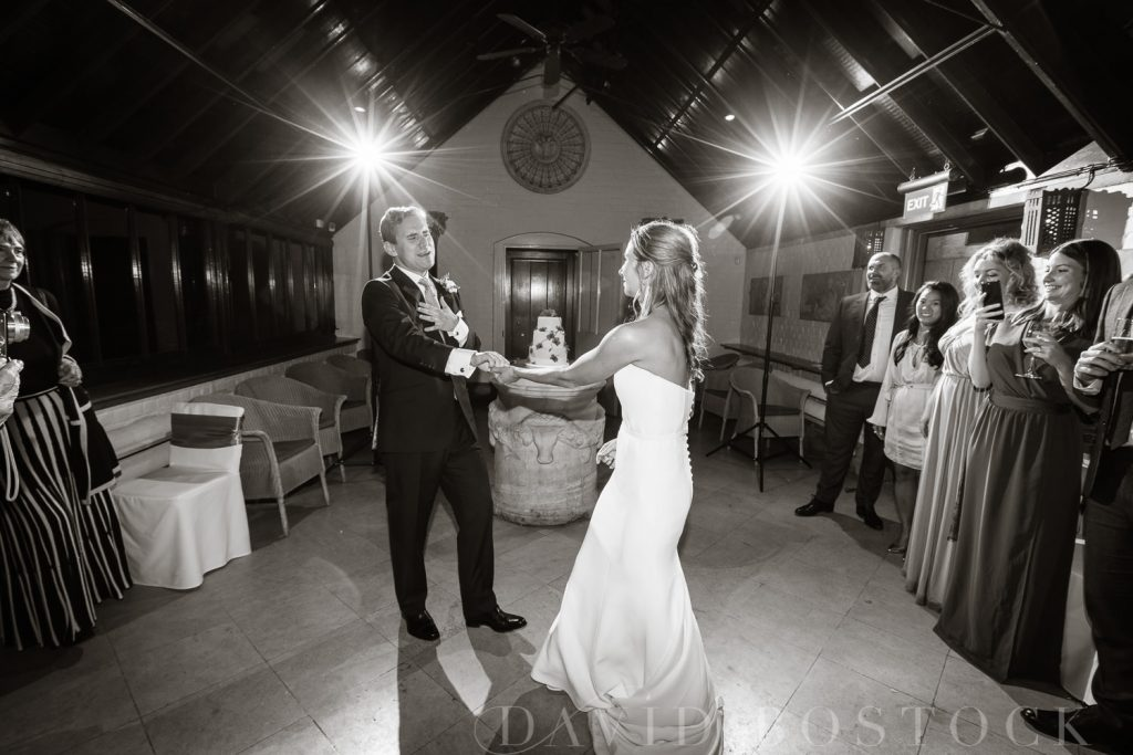 The Dairy Waddesdon wedding bride and groom first dance