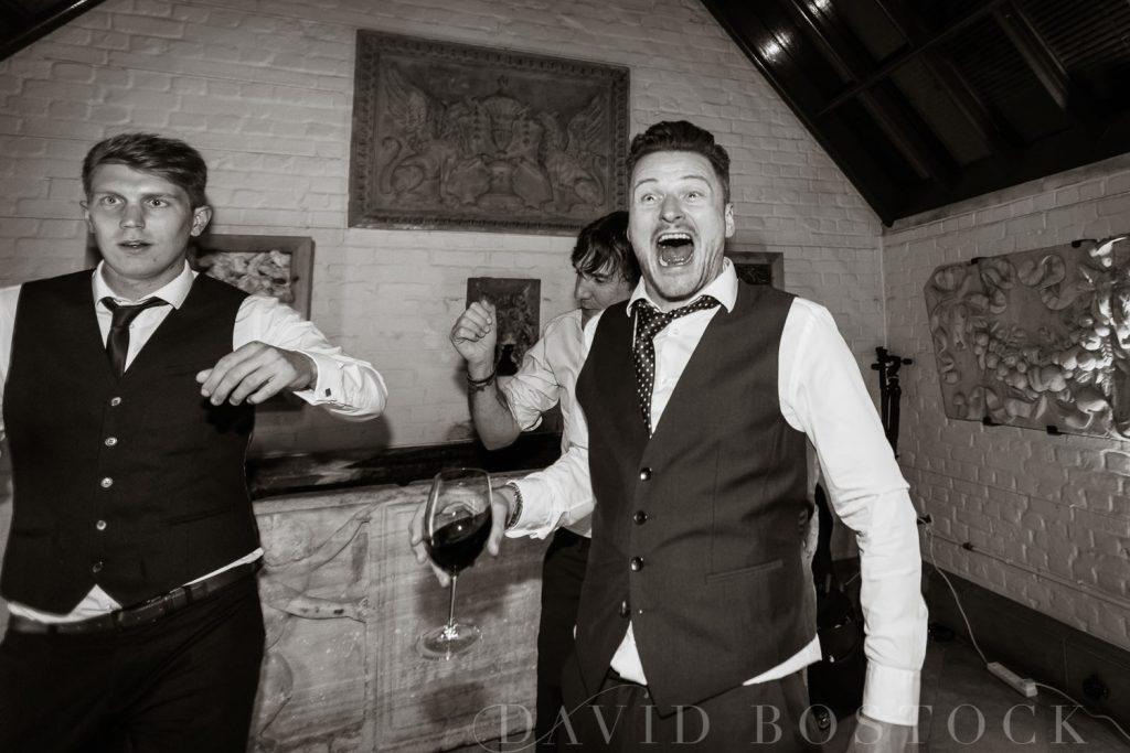 The Dairy Waddesdon wedding guests having fun