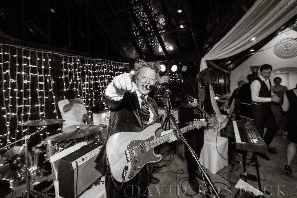 The Dairy Waddesdon wedding band lead singer