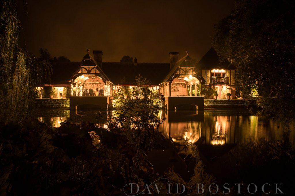 The Dairy Waddesdon wedding at night