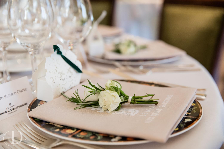Le Manoir aux Quat'Saisons wedding placemat