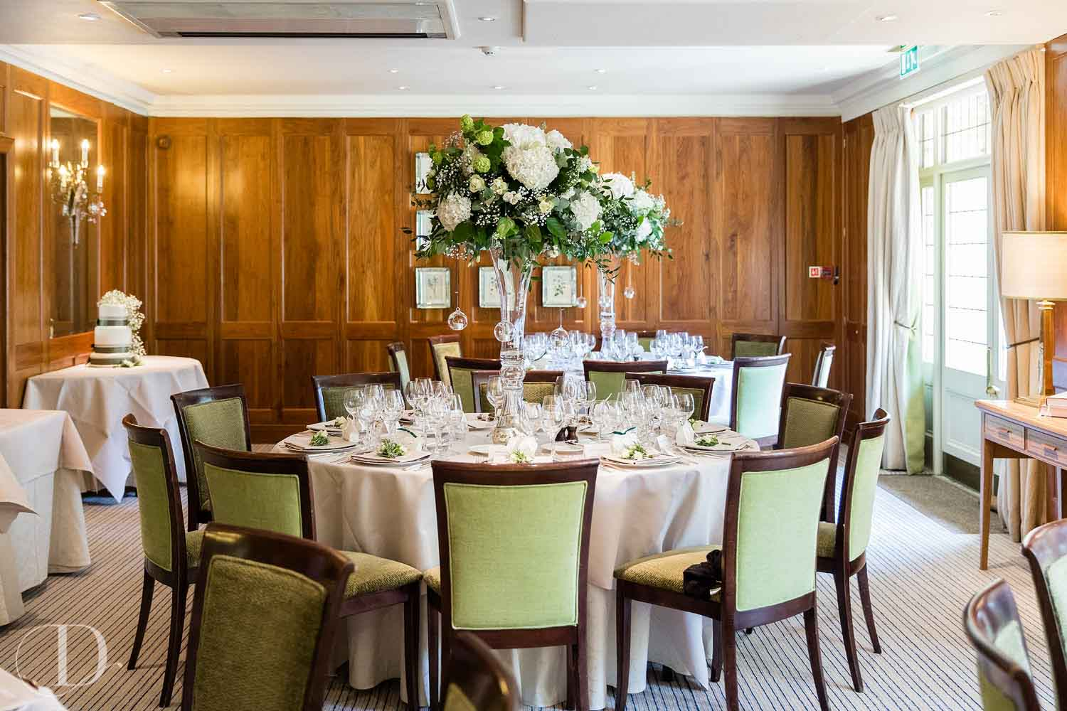 Le Manoir aux Quat'Saisons wedding set up