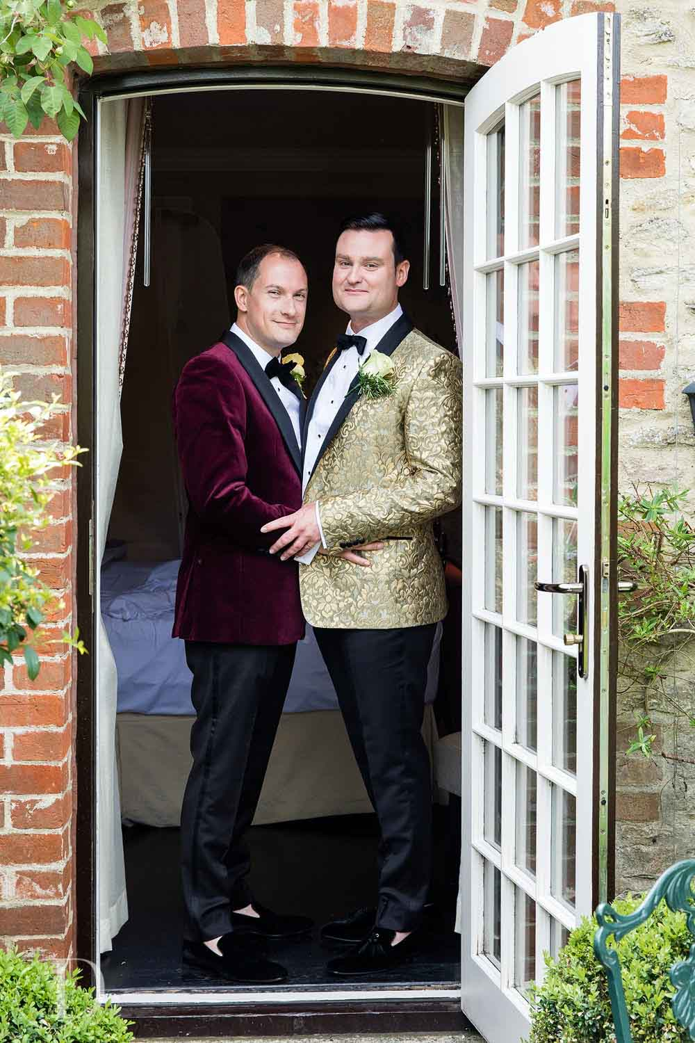 Le Manoir aux Quat'Saisons wedding grooms