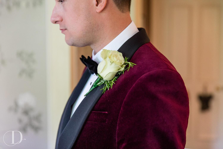 Le Manoir aux Quat'Saisons wedding buttonhole
