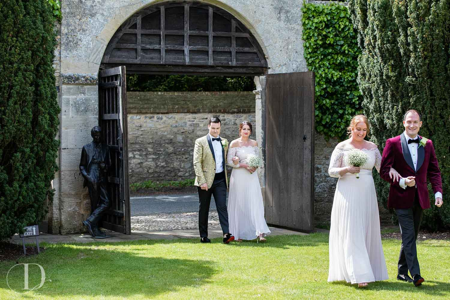 Le Manoir aux Quat'Saisons wedding aisle