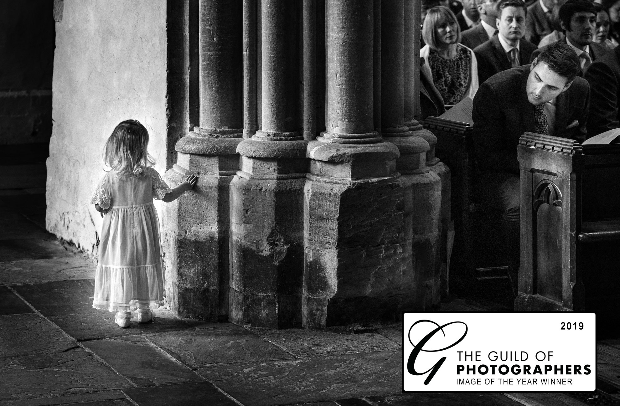 flowergirl walking in church